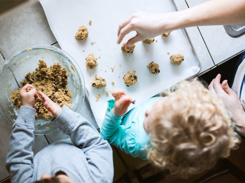 baking with family